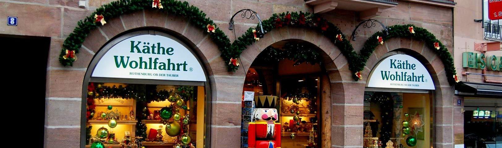 Магазин рождественских игрушек в Нюрнберге (Käthe Wohlfahrt Nürnberg)
