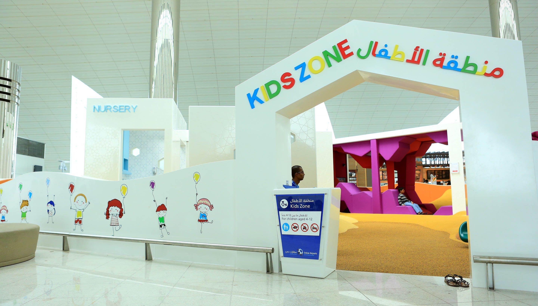 Детская площадка в аэропорте Дубай