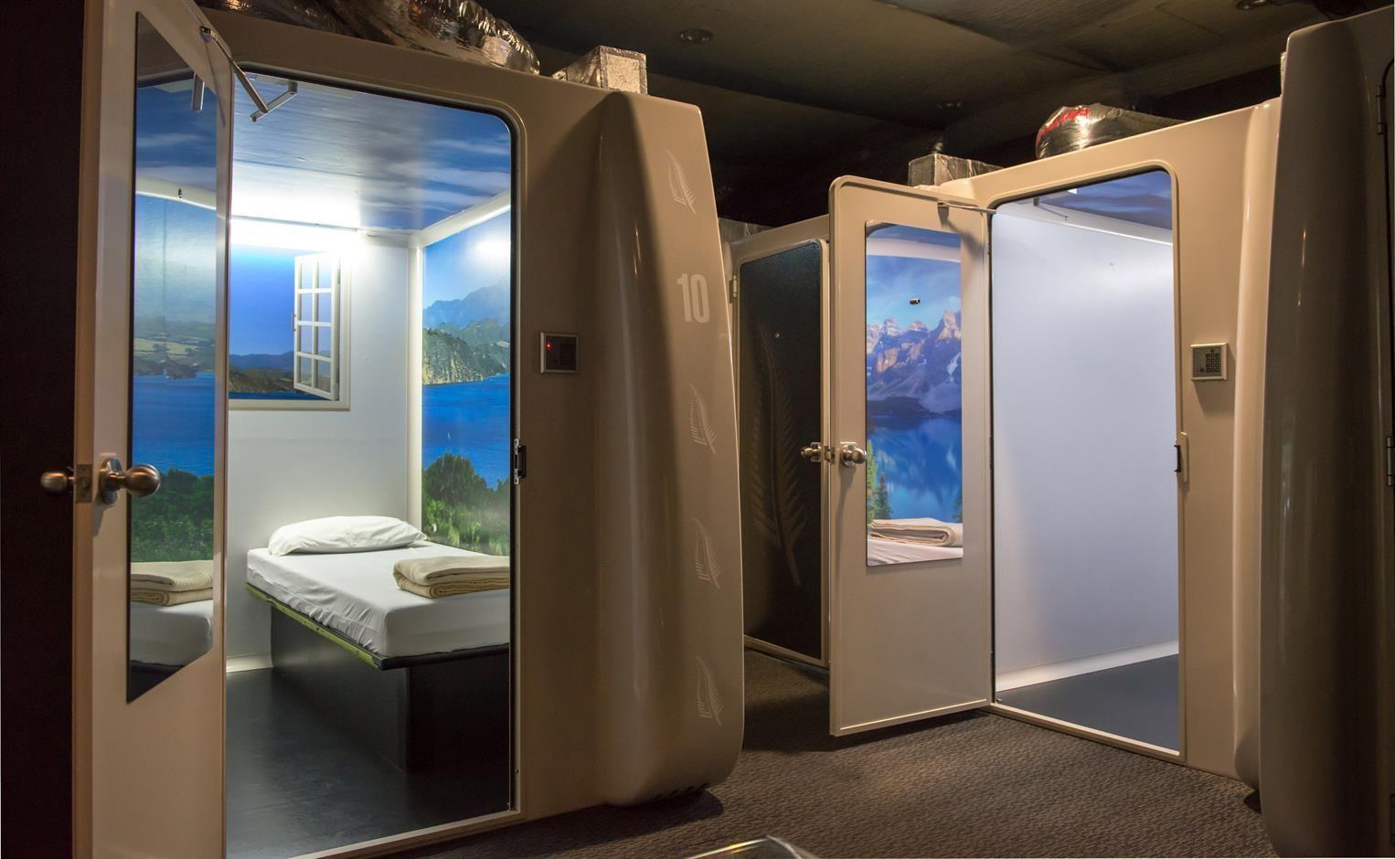 Кабинки для сна в аэропорте Дубай