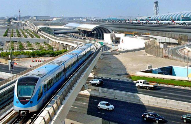 Метро аэропорта Дубай