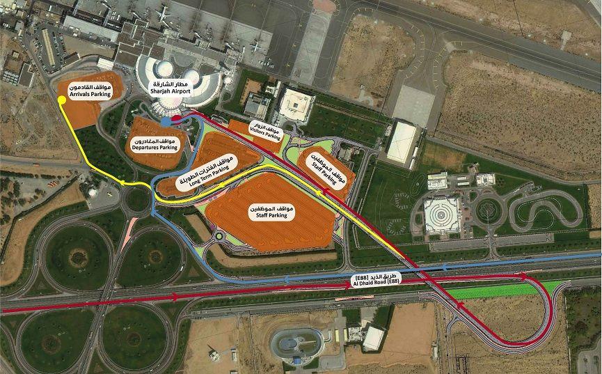 Схема парковок аэропорта Абу-Даби