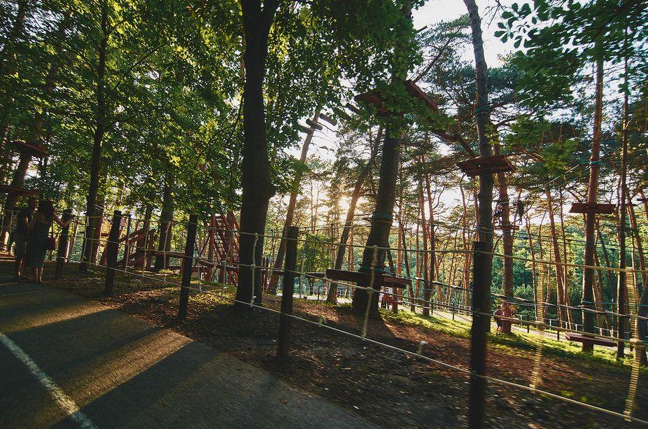 verevochnyy gorodok v parke kislovodska